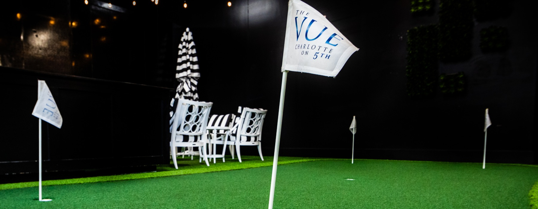 Full Sized Golf Simulator Lounge at The VUE Apartments in Charlotte, North Carolina