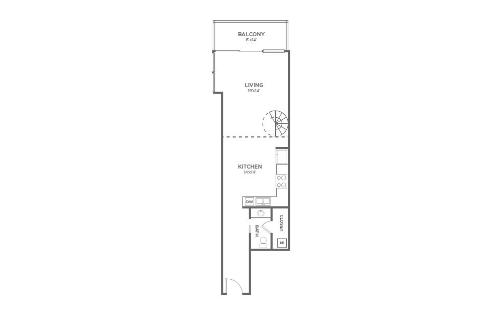 A5 - 1 Bed, 1.5 Bath Apartment at The VUE