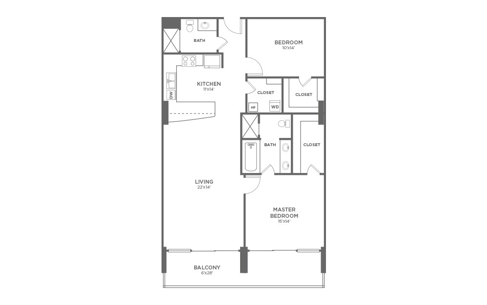 B2 - 2 Bed, 2 Bath Apartment at The VUE