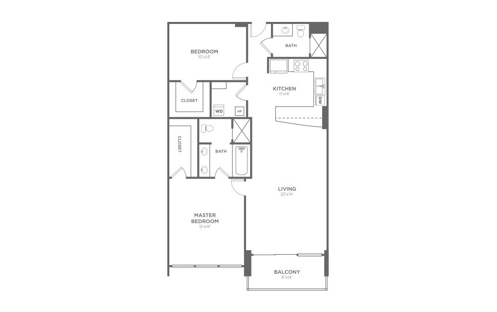 B3 - 2 Bed, 2 Bath Apartment at The VUE