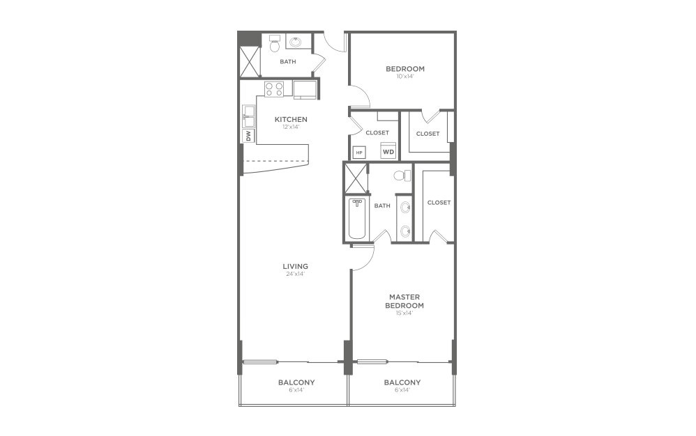 B4 - 2 Bed, 2 Bath Apartment at The VUE