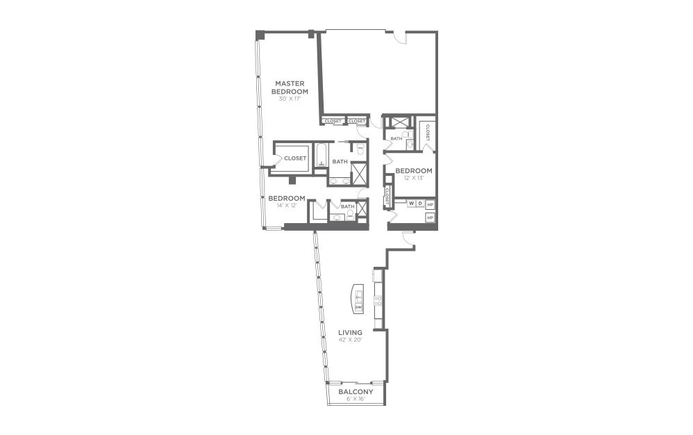C4 - 3 bedroom floorplan layout with 3 baths and 2756 square feet.