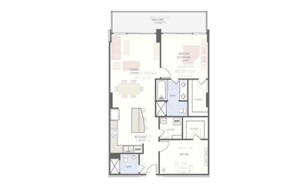 B1 - 2 Bed, 2 Bath Apartment at The VUE