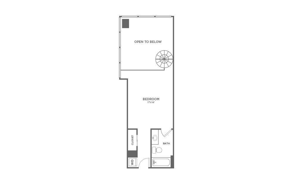 A2 - 1 bedroom floorplan layout with 1.5 bath and 978 square feet. (Floor 2)