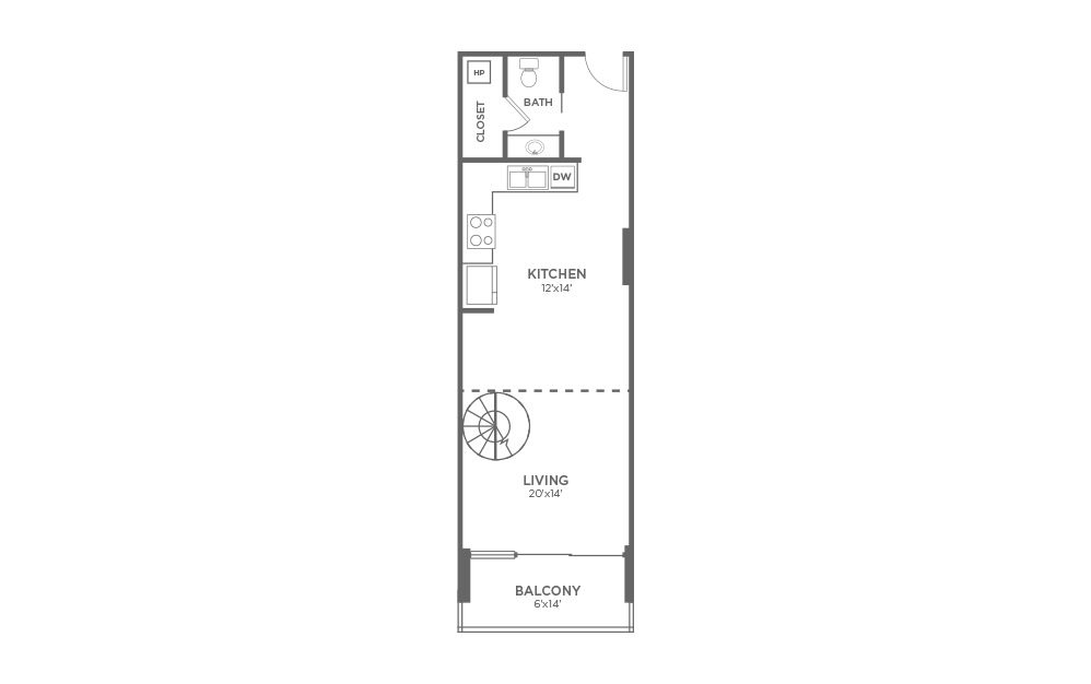 A7 - 1 Bed, 1.5 Bath Apartment at The VUE